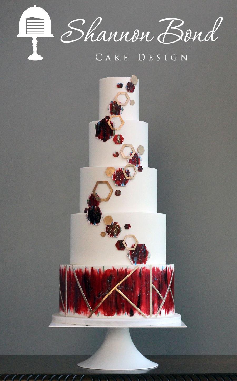 Geometric Wedding Cake Cakecentral Com