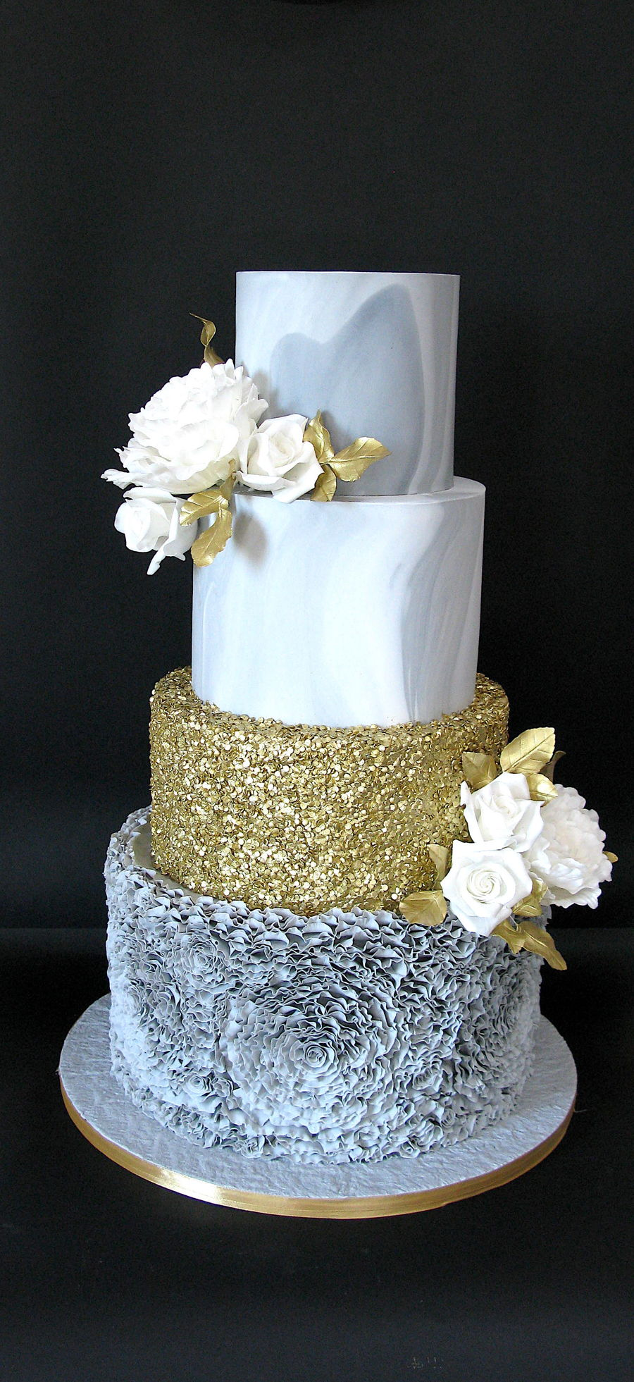 Grey Marble Wedding Cake Cakecentral Com