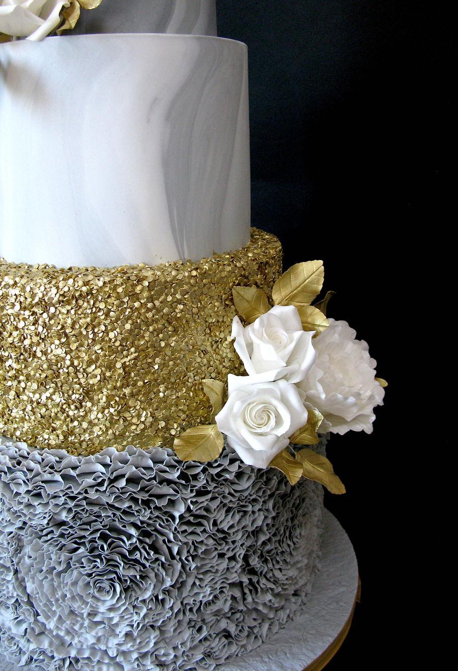 Grey Marble Wedding Cake Cakecentral Com