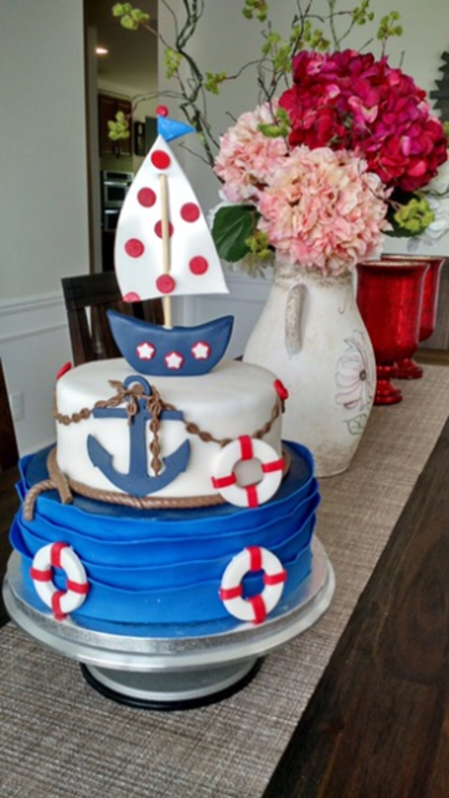 Remarkable Nautical Birthday Cake Cakecentral Com Funny Birthday Cards Online Sheoxdamsfinfo