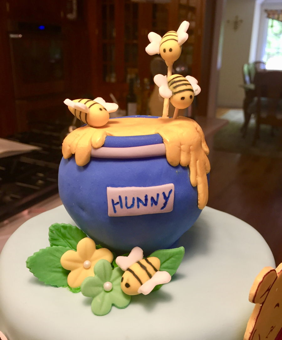 Pooh And Friends Baby Cake - CakeCentral.com