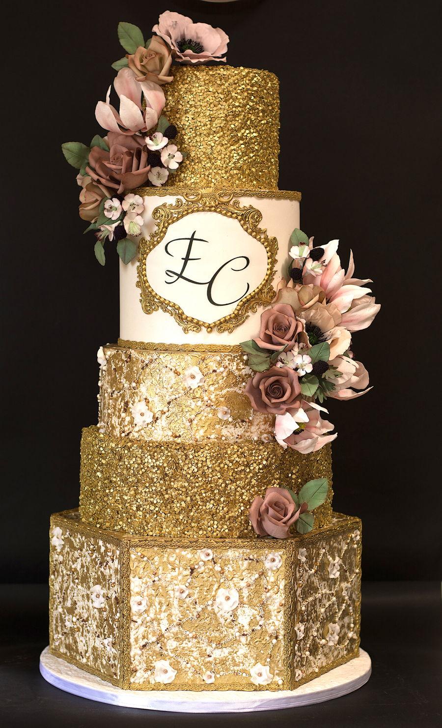 Royal Gold Wedding Cake