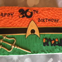 Aqua Man Cake Made this quick sheet cake for a friend who loves Aqua Man!Half chocolate and half vanilla cake with buttercream colors to match the...