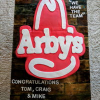 Arby's Cake Made this cake for the grand reopening of an Arby's restaurant!!