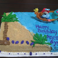 Ariel Young lady wanted Ariel with a beach theme and loved the color purple. Sand is graham crackers and the rest Buttercream.