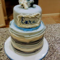 Baby Dedication Cake Fondant monkey theme
