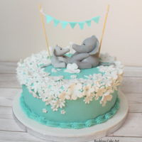 Baby Shower Cake Baby Shower buttercream cake for my cousin. It's chocolate cake with Belgian chocolate buttercream, covered in vanilla buttercream (to...