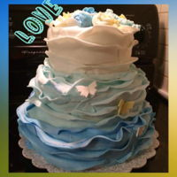 Belated Wedding Cake I loved ruffles last year. I struggled to get them the way j wanted, but still love the effect.