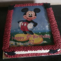 Birthday Cake Mickey mouse cake. Vanilla cake with buttercream frosting