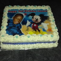 Birthday Cake - Boys Image cake, Mickey mouse vanilla butter cake with buttercream frosting