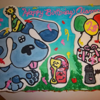 Blues Clues Buttercream transfer