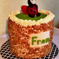 Buttercream Cake With Modelling Chocolate Lady Bug This was my first (and last) 6 layer cake! Nightmare to cut cleanly but it was made for my sister's birthday so all was well.