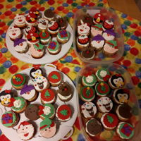 Christmas Themed Cupcakes Christmas cupcakes