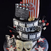 Cinema Cake Actual cake is only (3) 6 inch single layer rounds, that were used for the film reels. Popcorn bag was made from R/K treats. All details...