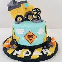 Construction Cake Construction cake for three year old boy