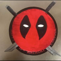 Deadpool Last minute order made for a special lass turning 18. Chocolate Mud filled with mousse