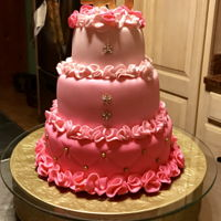 Fabulous Pink Cake Ruffles and bling all the way !