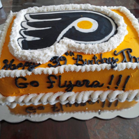 Flyers Ice Skating Buttercream transfer