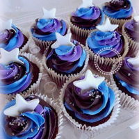 Galaxy Cupcakes chocolate cupcakes
