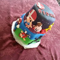 Gamer Cake Smash Bros cake