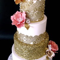 Gold Lace Wedding Cake obviously this is my gold wedding year :) https://www.facebook.com/DeliceVarna/