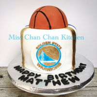 Golden State Warriors Basketball Birthday cake