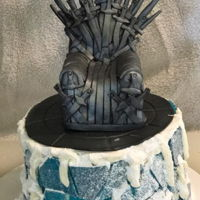 Got Cake Just a little cake to practice some techniques. Iron throne is fondant and the Wall is sugar candy I made for the first time. The cake...