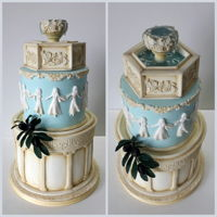 Greek Themed Birthday Cake Greek Themed Birthday Cake.The gamboling goddesses were inspired by Dancing Hours, one of Wedgwood's most famous designs.