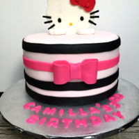 Hello Kitty Theme Cake Fondant cake