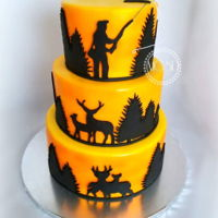 Hunting & Fishing Cake 6''+8''+10''red velvet cake