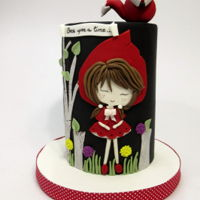 Little Red Riding Hood Double barrel cake for Catalina´s 6th birthday who chose her favourite character, Little red !