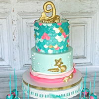 Mermaid Cake Mermaid cake.