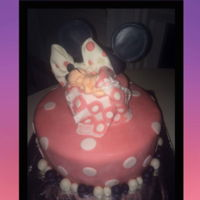 Minnie Mouse Iii Sorry about the picture quality. 2017 baby shower cake, fondant.