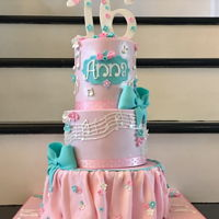 Musical Sweet 16 For Anna Made this for my daughter's sweet 16. Pink and Teal with Music, Eiffel Tower, and Photography themes.