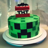 Nephew's Birthday Cake Minecraft themed for my nephew.