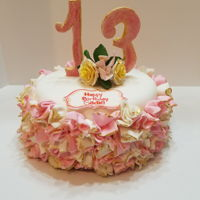 Pretty In Pink Fondant and gum paste was used