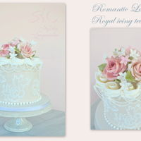 Romantic Lace Cake Royal icing techniques