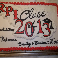 Rpi Graduate Buttercream transfer logo of RPI