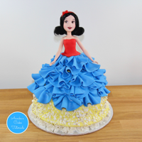Snow White Doll Cake Snow white doll cake tutorial Link is here,