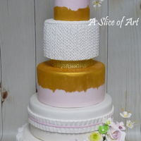 Sugar Rose Wedding Cake Lovely 5 tier knit themed Wedding cake