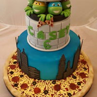 Teenage Mutant Ninja Turtles Birthday cake for my Boy ☺