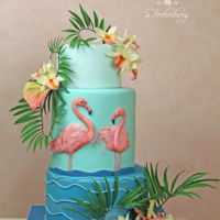 Tropic Orchid Suitable for summer the cake with sugar flowers
