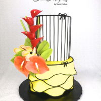 Tropical! Absolutely loved making these tropical anthurium and heliconias flowers! TFL!!