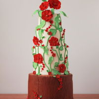 Whimsy Woodland for a romantic whimsical woodland wedding cake with a modern touch