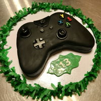 Xbox Remote Control Cake Fun replica for my son's birthday. His summer best friend...