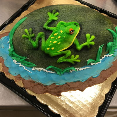 Buttercream Frog On A Rock