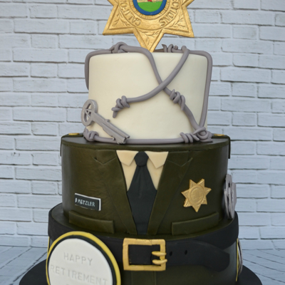 Correctional Officer Cake Fondant cake. All details handmade