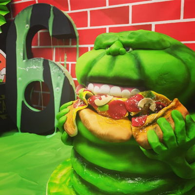 Ghostbusters Birthday Cake I had SO much fun making this Slimer cake for my nephew's 6th birthday. I always loved this show/movie when I was growing up. And the...