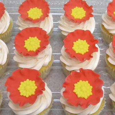 Jeweled Poppy Cupcakes