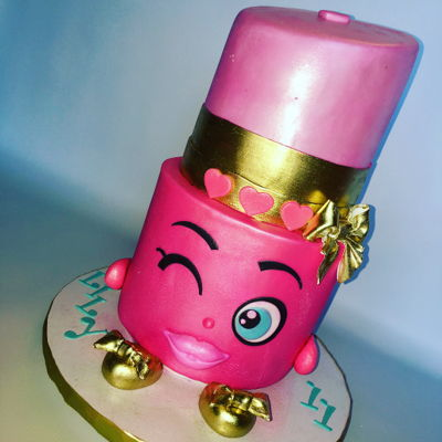 Lippy Lips Shopkin Cake For Lily